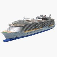 3D oasis class cruise ship model