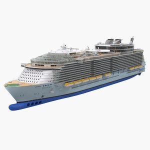 oasis class cruise ship 3D model