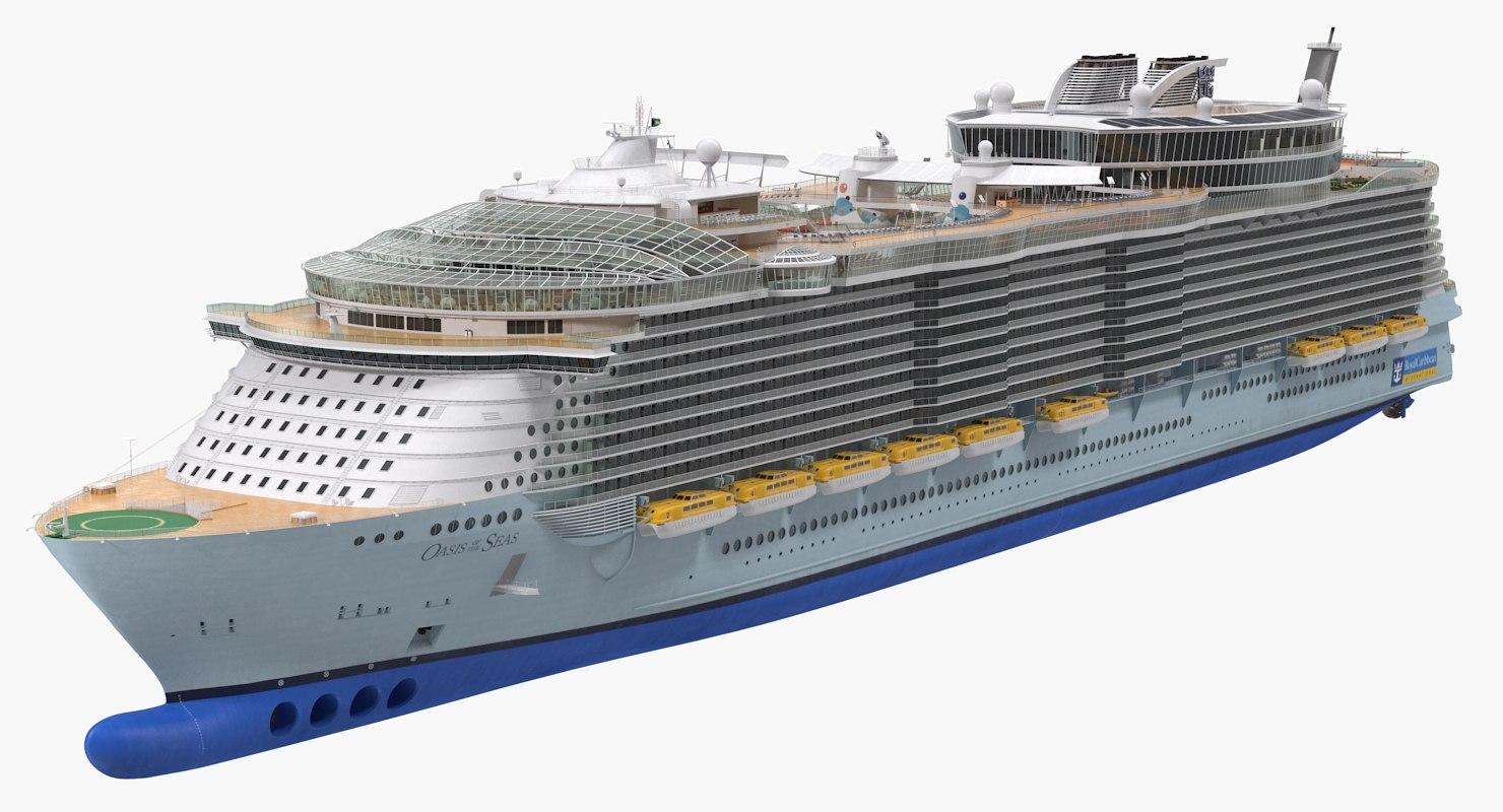 oasis class cruise ship 3D model