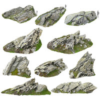 rocky cliffs pack 10 3D model