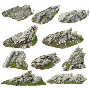 rocky cliffs pack 10 3D model