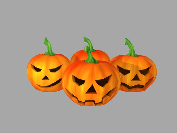 3D halloween pumpkins model