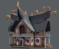 house cartoon v04 model