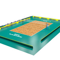 3D model volleyball volley court