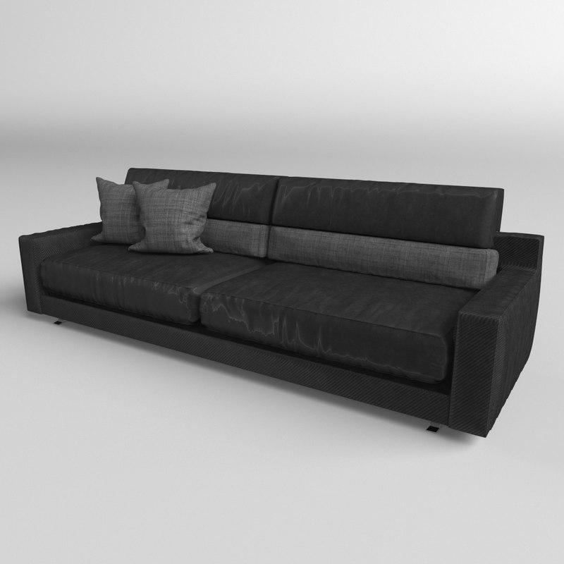3D sofa modern realistic