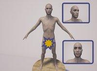 3D model male nude