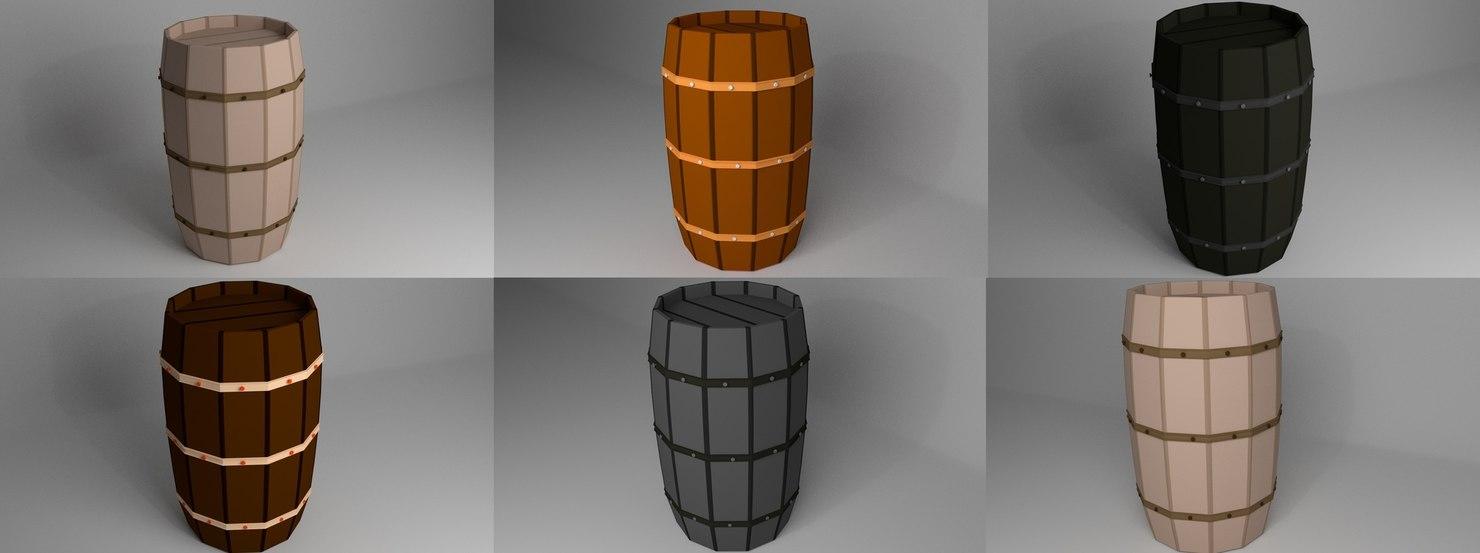 3D barrel container model