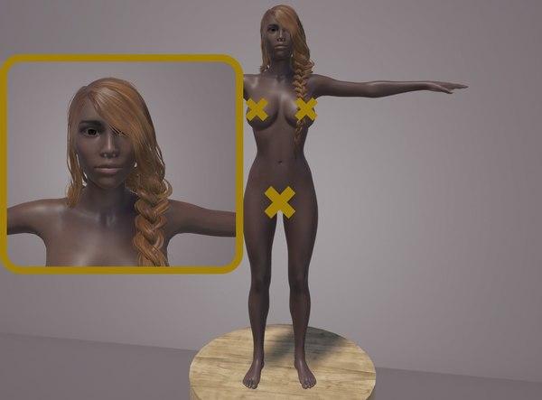 body genitals 3D