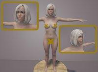 3D model nude female Sylvia