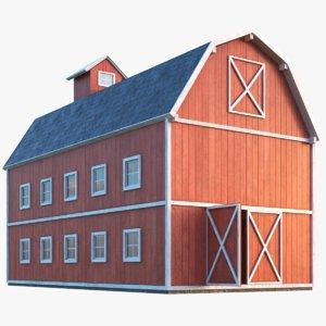 farm barn 3D model