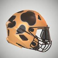 Low Poly Football Helmet