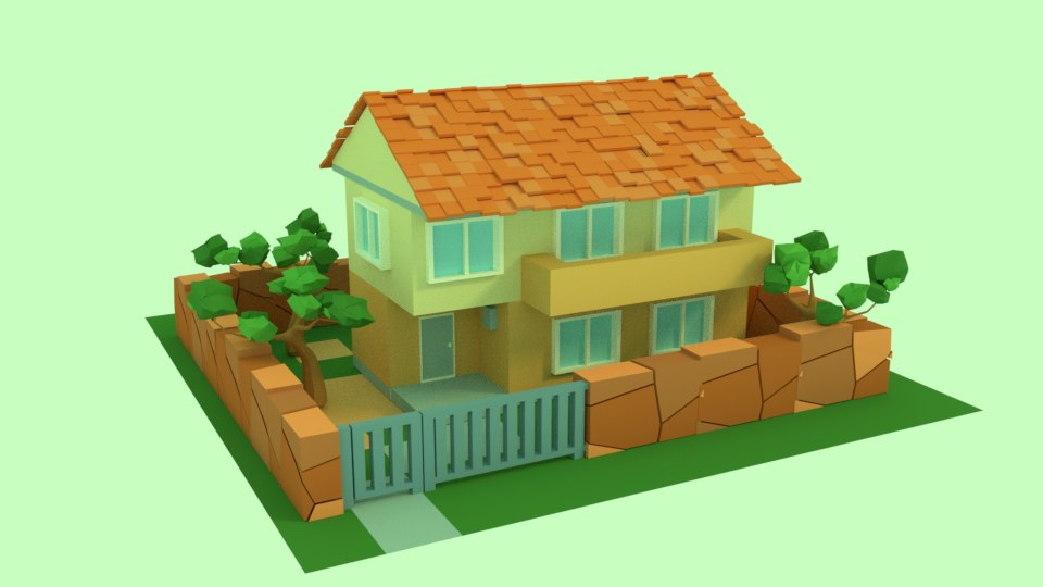 house architectural 3D model