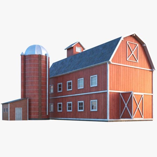 farm barn silo 3D model