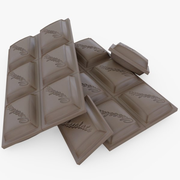 3D chocolate bar model