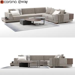 bikom sofa 3D model