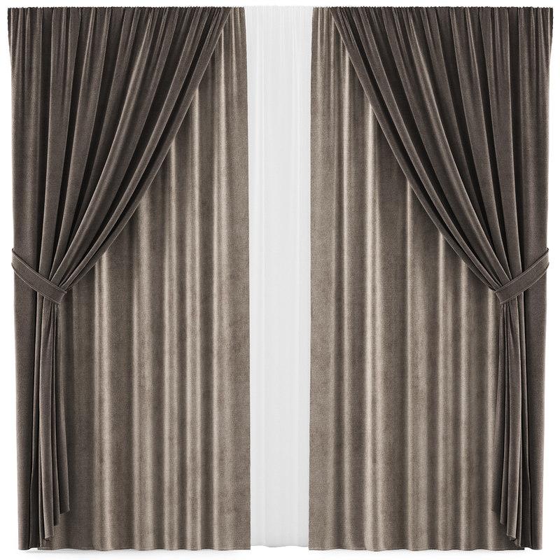 curtains 34 interior 3D