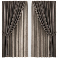 3D curtains 35 interior model