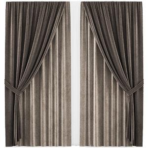 3D curtains 35 interior model
