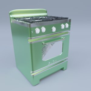3D model big chill retro stove