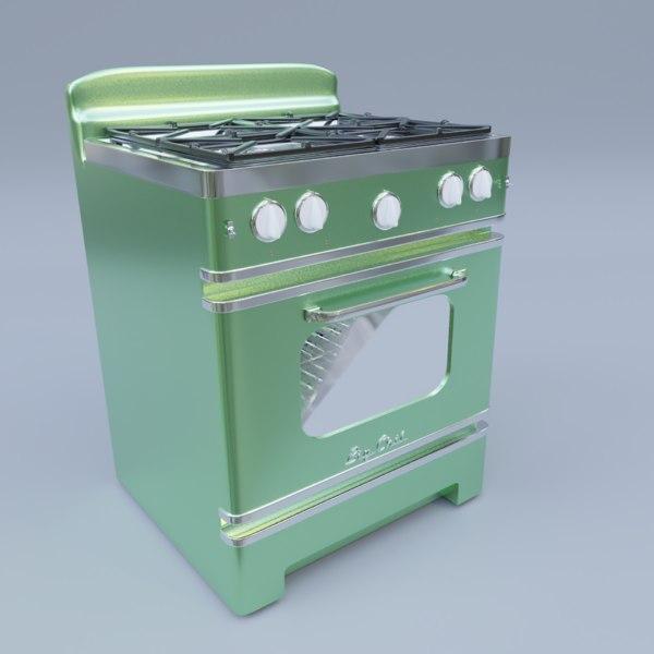 3D model big chill retro stove