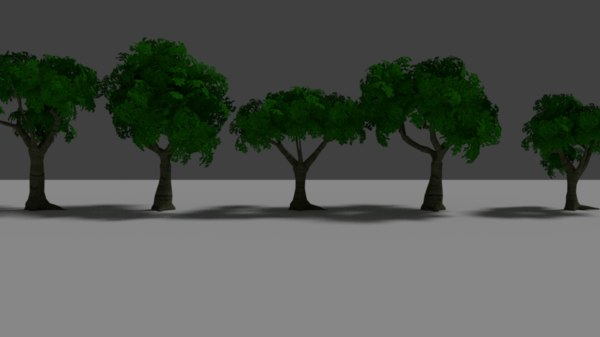 fantasy tree variations 3D model