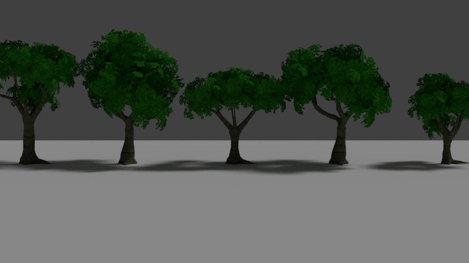 fantasy tree variations 3D model