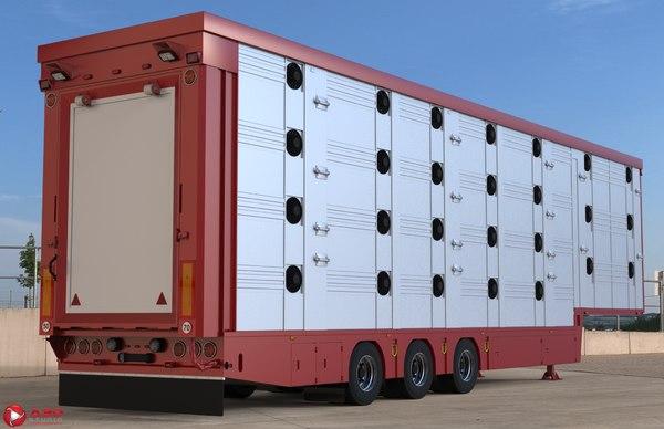 pezzaioli animal trailer 3D