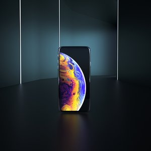iphone xs white 3D model