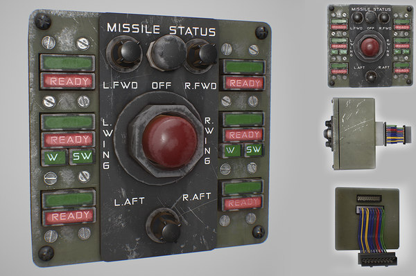army missile control panel 3D model