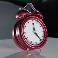 3D alarm clock customisable colours