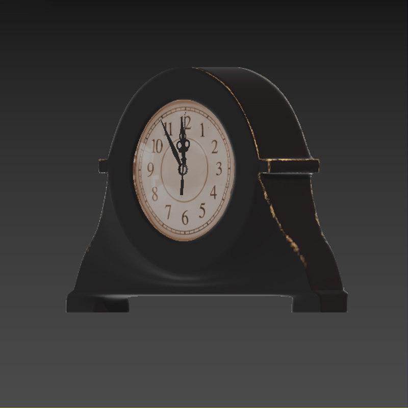 old clock 3D model