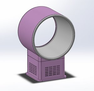 desktop fan 3D model