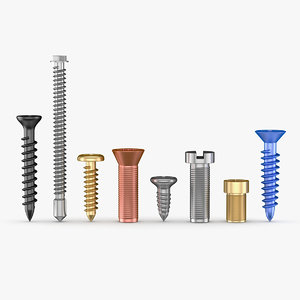 3D tools screw model
