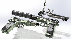 3D model cz-75 parts