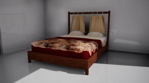 3D furniture october bed model