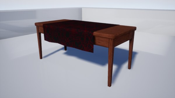 furniture october dining table 3D