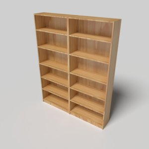 3D ikea billy shelf model