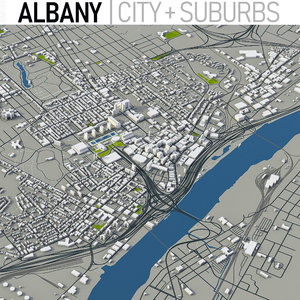 albany city town 3D model
