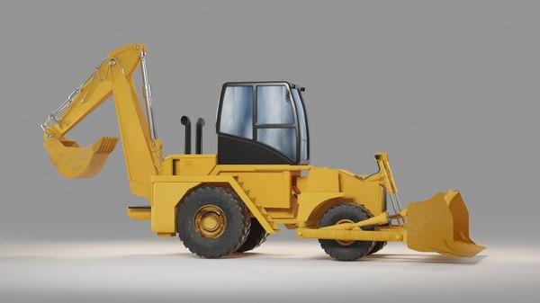 backhoe loader 3D