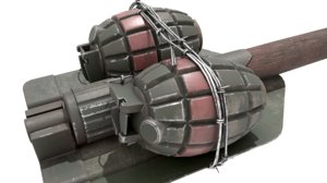 3D improvised folding shovel grenades
