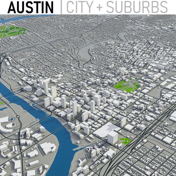 3D austin city area model