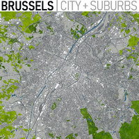 3D brussels city urban model