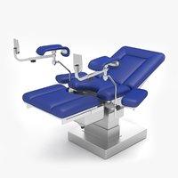 3D model gynecologic examination table