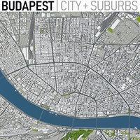 budapest city town 3D