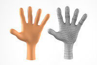 Hand for Cartoon Character  Basemesh