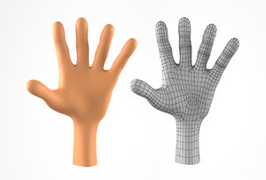 3D hand cartoon character