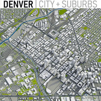 3D model denver city area