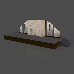 3D old big book stage