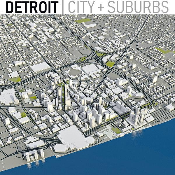 detroit city area model