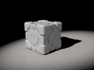 companion cube 3D model